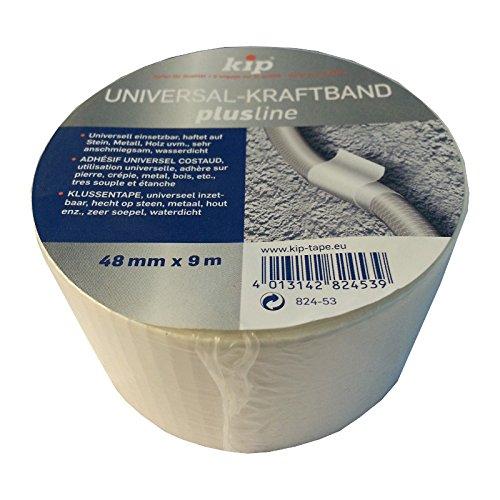 Kip Universal-Kraftband 48mm x 9m weiß Gewebeklebeband Reparaturband Isolierband Montageklebeband