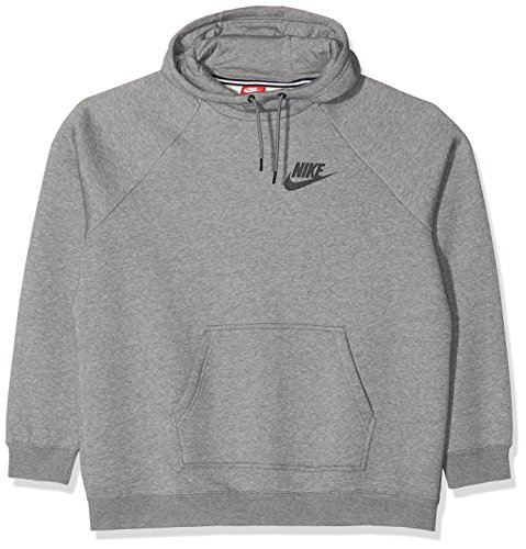 Nike Damen Rally Hoody, Grau (Carbon Heather/Cool Grey/Black), S