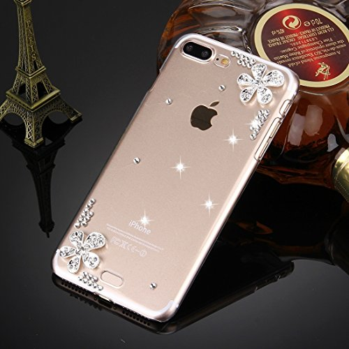 Hülle für iPhone 7 plus , Schutzhülle Für iPhone 7 Plus Diamond verkrustet drei Schmetterlinge Pattern PC Schutzhülle Back Cover ,hülle für iPhone 7 plus , case for iphone 7 plus ( SKU : IP7P0099C ) IP7P0099T