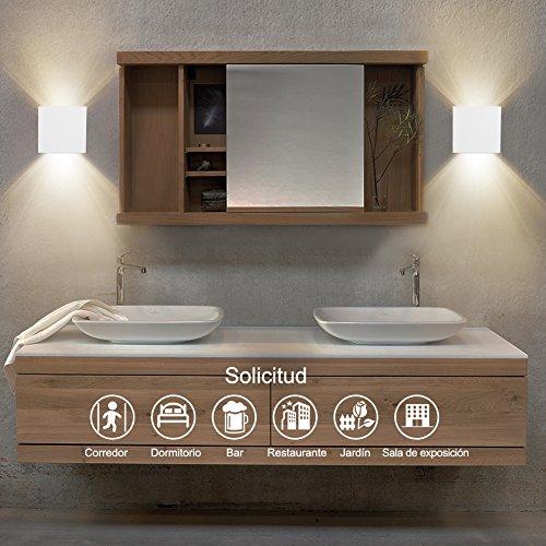 GHB-12W-LED-Apliques-de-Pared-Lamparas-de-Pared-Impermeable-PI65-con-Luz-Blanco-Clido-2700K-Universal-para-Decoracin-de-Casa-Jardn-de-Lluminacin-de-Exterior-y-Lluminacin-de-Interior-Clase-de-eficienci