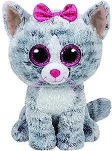 gatitos: TY - Beanie Boos Kiki, peluche gatita, 15 cm, color gris (United Labels Ibérica ...
