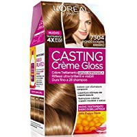 L'Oréal Paris Casting Crème Gloss Colore Trattamento senza Ammoniaca, 7304 Biondo Dorato Ramato