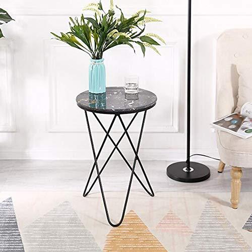 Tische MEIDUO Beistelltisch Marmor Satztische Metallrahmen Runder Couchtisch für Flur Schlafzimmer Wohnzimmer Eingangsbereich 3 Farben Computertisch...