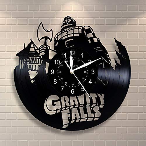 SOKIMI Gravity Falls Vinyl Record Wall Clock 3D 12