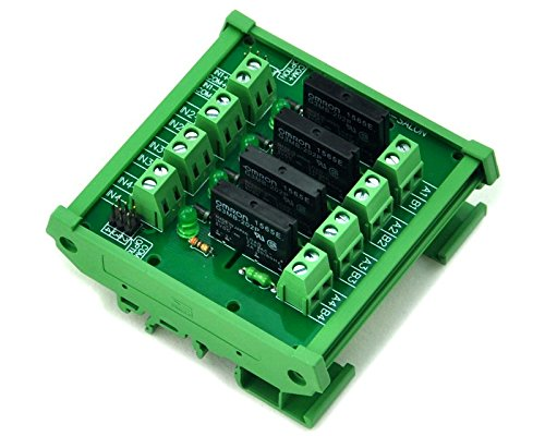 Electronics-Salon DIN Rail Mount 4 Kanal SSR/solid State Relay Interface Modul, AC100 ~ 240 V/2 A. -