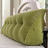 YOTA HOME Bedside Rückenlehne Bedside Kissen Double Soft Bed Back, Dreieck Big Kissen Sofa Taille Taille PillowLong Kissen (Farbe : A2, Größe : 150*22*50cm)