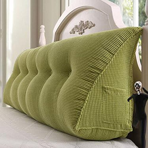 YOTA HOME Bedside Rückenlehne Bedside Kissen Double Soft Bed Back, Dreieck Big Kissen Sofa Taille Taille PillowLong Kissen (Farbe : A2, größe : 100 * 22 * 50cm) (Sofa Big)