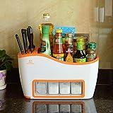 Küchenwagen HWF Regal Multifunktions-Küchenregale Spice Rack (Farbe : B)