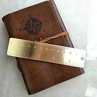 Mini Retro Pure Brass Bookmark Ruler Inch Cm Dual Scales Portable EDC Tool