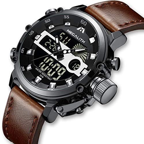 Orologio Uomo Orologi Militari Sport Impermeabile Cronografo LED Quadrante Grande Analogico Digitale...