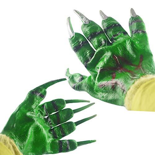 stige Grüne Teufel Handschuhe Party Cosplay Requisiten Zubehör Hulk Handschuhe Halloween Kostüme Halloween Party Favors Halloween Handschuhe Zubehör ()