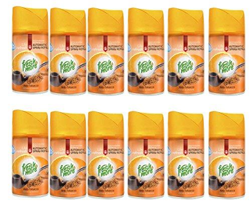 12x Fresh & More Lutferfrischer Nachfüller Anti Tabak Cedar&Orange, 250ml
