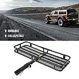 Cocoarm Heckträger mit Schnellkupplung für Transporte Auto Wildträger mit Schnellverschluß aus Kohlenstoffstahl Ideal für SUV Truck ATV 135 x 49 x 86 cm
