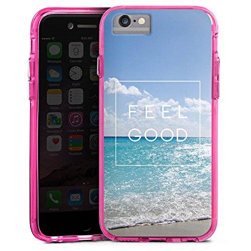 Apple iPhone 7 Plus Bumper Hülle Bumper Case Glitzer Hülle Saying Spruch Phrase Bumper Case transparent pink
