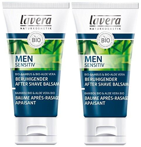 lavera Beruhigender After Shave Balsam Men sensitiv ∙ Beugt Hautrötungen vor ∙ Gesichtspflege für Männer ∙ Geeignet für empfindliche Haut ∙ vegan 2er Pack (2 x 50 ml)