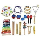 Kalaok Musikinstrument Spielzeug Kit 19 teile/satz Enthalten Tamburin Griff Tamburin Xylophon Musik...