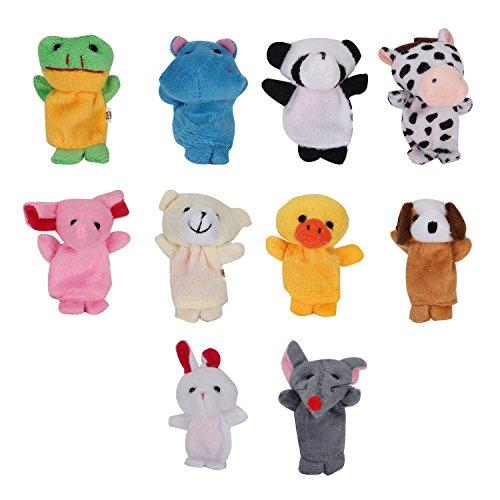 Pinzhi - 10x Marionetas de Dedo Animales Juguetes para Los Niños
