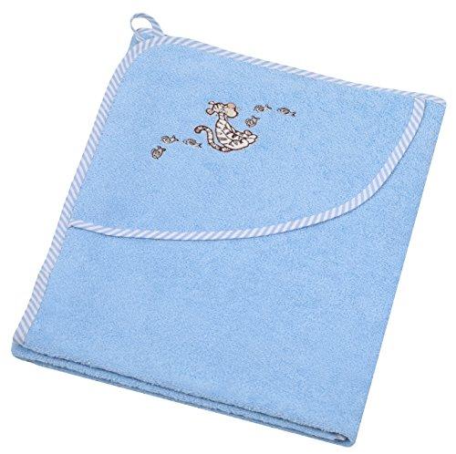 Betz Kapuzen Kinderbadetuch Winnie Pooh oder Tiger 100% Baumwolle Kapuzenhandtuch 80 x 80 cm blau