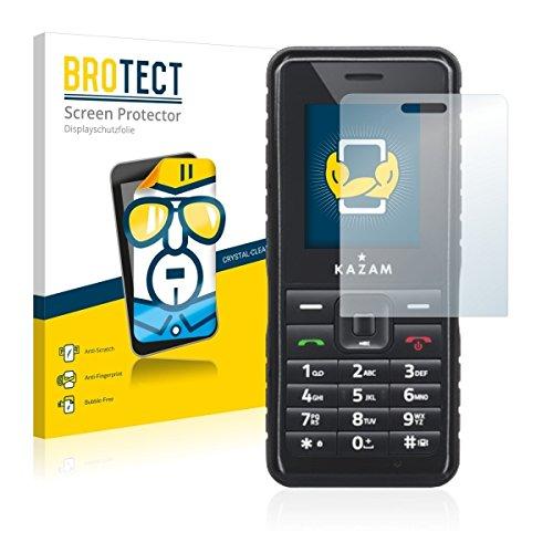 2X BROTECT HD Clear Bildschirmschutz Schutzfolie für Kazam Life R2 (kristallklar, extrem Kratzfest, schmutzabweisend)
