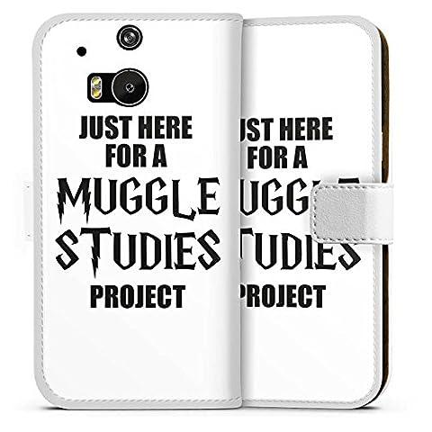 HTC One M8 Flip Tasche Schutz Hülle Walletcase Bookstyle Harry Potter Spruch Muggle