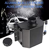 gaeruite Universal 1lL Auto Aluminium Oil Catch Tank con Breather Filter Radiator Refrigerante Expansion Alloy Tank