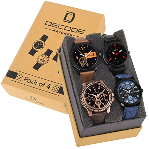 Decode Combo of 4 infinity 7800 Multicolor Dial Men's and Boys Watches