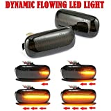 1 Paar Auto Seitenmarkierung Blinker, dynamisch fließendes Gelb LED Blinker Ersatzteil für A4 S4 B6 B7 A6 C5 TT A8