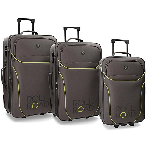 Roll Road Chelsea Koffer-Set, 73 cm, 27 liters, Grau (Gris)