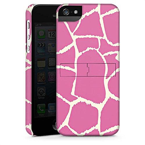 Apple iPhone X Silikon Hülle Case Schutzhülle Giraffe Pink Animal Print Premium Case StandUp