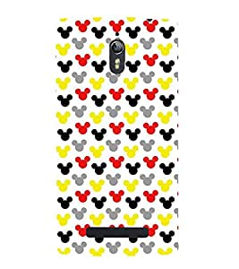 printtech Mini Mickey Mouse Pattern Back Case Cover for Oppo Find 7 QHD