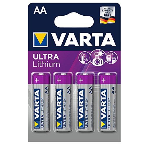 Varta Lithium Batterie AA Mignon Batterien LR6-4er Pack (Design kann abweichen)