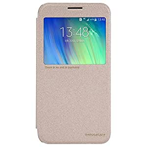 Kapa Nillkin Sparkle Series Window Leather Flip Case Cover for Samsung Galaxy E7 - Gold