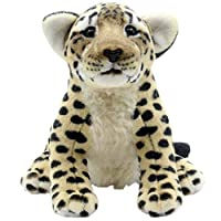 TAGLN Stuffed Animals Tiger Toys Plush Leopard Lion Sitting 25 CM