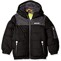 Regatta Kids Larkhill Flexible de chaquetas, Infantil, color Black/Iron, tamaño talla 7-8