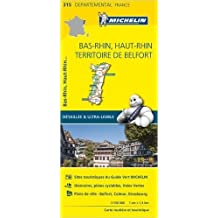 Carte Bas-Rhin, Haut-Rhin, Territoire de Belfort Michelin de Collectif Michelin ( 1 avril 2015 )