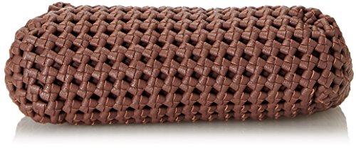Silvian Heach Rovasenda, Borsa a Mano Donna, 32 x 24 x 13 cm (W x H x L) Marrone (Brown Wood)