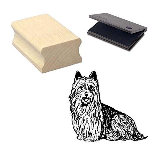 « AUSTRALIAN SILKY TERRIER » Motivstempel mit Kissen Scrapbooking - Embossing - Basteln - Hund -
