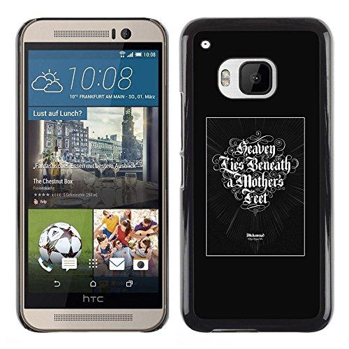 cover-rigida-custodia-case-cover-per-htc-one-m9-heaven-lies-beneath-a-mothers-feet