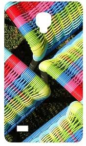 Multi Color Chairs Black Flip Case for Samsung Galaxy I9190 / SIV / S4 Mini