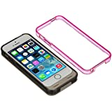 Kit 2400mAh MFI Approved Battery Case Cover with Two Interchangeable Frames, for iPhone 5/5S/SE -Gold/Pink