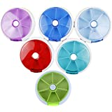 Amazingdeal365 Pastillero Semanal Caja con Recordatorio de 7 Compartimentos, Color aleatorio