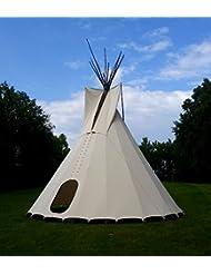 komplettes Ø 5m Tipi Indianerzelt Wigwam Indianer Zelt Sioux , YAKARI Style Indianertipi