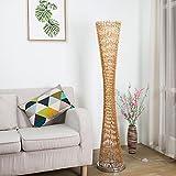 Stehleuchte Moderne minimalistische Ideen Fashion Decor Wohnzimmer Schlafzimmer Kopfteil Vertikales Licht Standleuchten (Farbe : Gold)