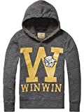 Scotch Shrunk Hooded Sweat with College Artwork & Quilting Details, Felpa Bambino