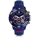 Ice-Watch - BMW Motorsport (Sili) Dark Blue - Montre Bleue pour Homme avec Bracelet en Silicone - Chrono - 000844 (Extra Large)