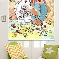 Diseño con texto de pollito sobre una pintura de tinta estilo Carcasa de pareja enrollables cm