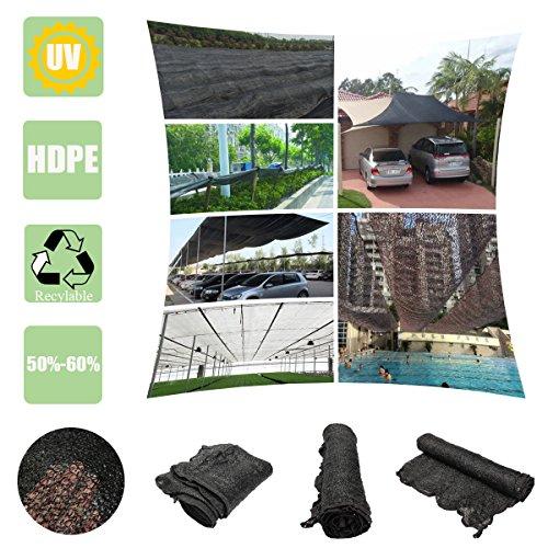 SAFETYON 2m*2m 50% - 60% Schattiernetz Schattierungsgewebe Sonnenschutznetz Sonnensegel Schatten...