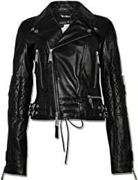 PHILIPP PLEIN Damen Designer Leder Jacke - MOULIN ROUGE -XL