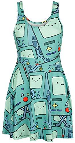 Adventure Time BMO Abito stampa allover M