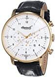Ingersoll Herren-Armbanduhr XL Houston Chronograph Automatik Leder IN2816GWH
